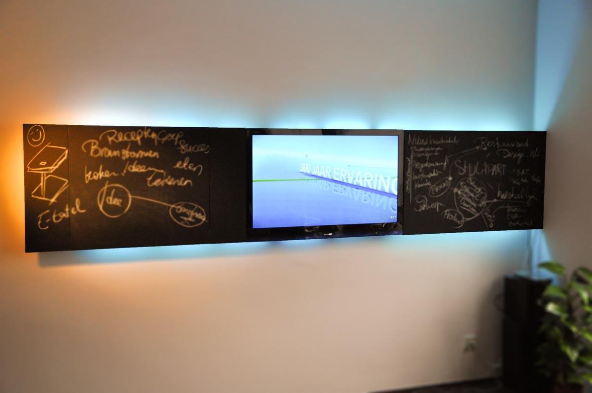 tv kast chalk it up tv kast voor aan de wand als krijtbord met ...
